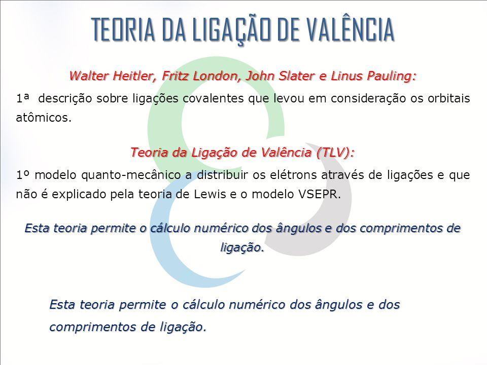 TEORIA DA LIGAÇÃO DE VALÊNCIA