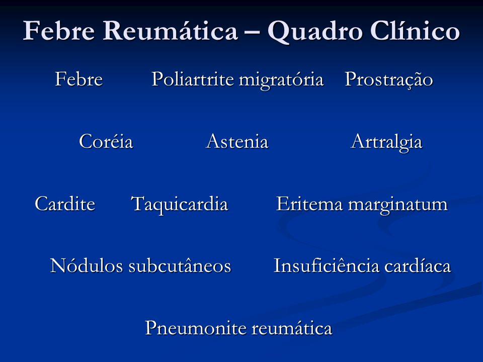 Febre Reumática – Quadro Clínico