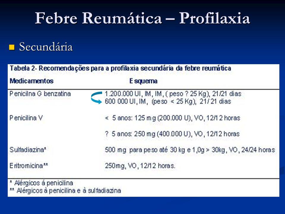 Febre Reumática – Profilaxia