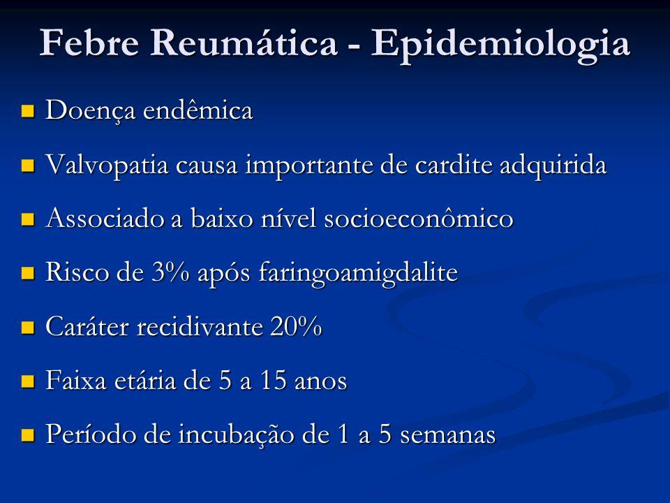 Febre Reumática - Epidemiologia