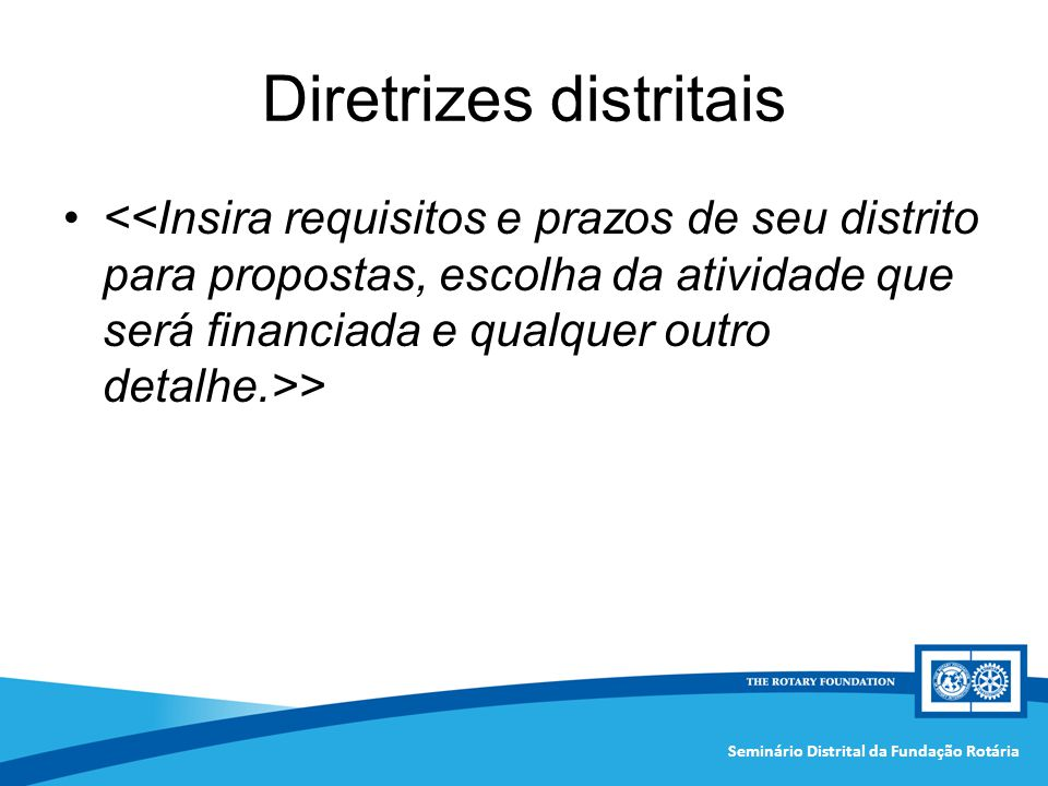 Diretrizes distritais