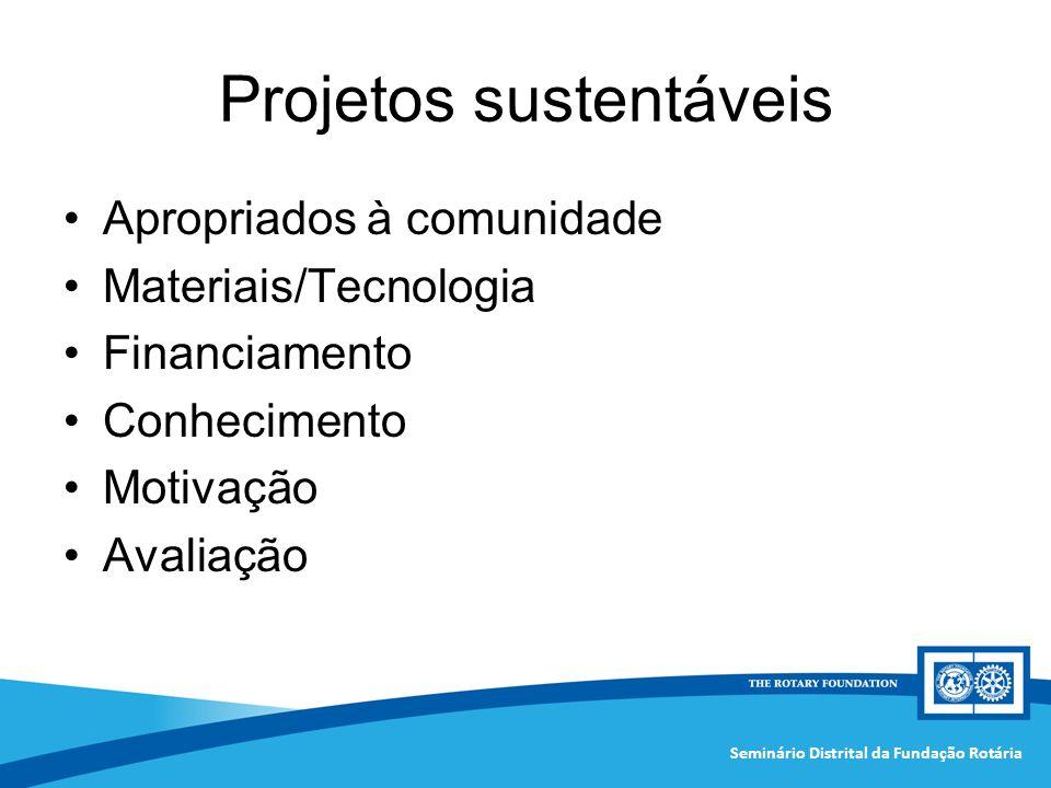 Projetos sustentáveis