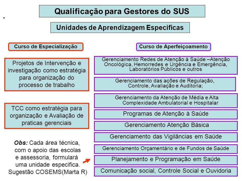 . Qualificação para Gestores do SUS