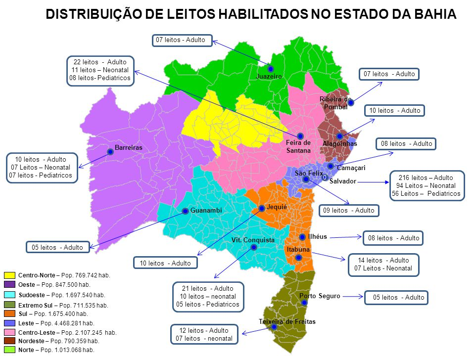DISTRIBUIÇÃO DE LEITOS HABILITADOS NO ESTADO DA BAHIA