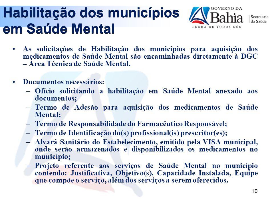 Habilitação dos municípios em Saúde Mental
