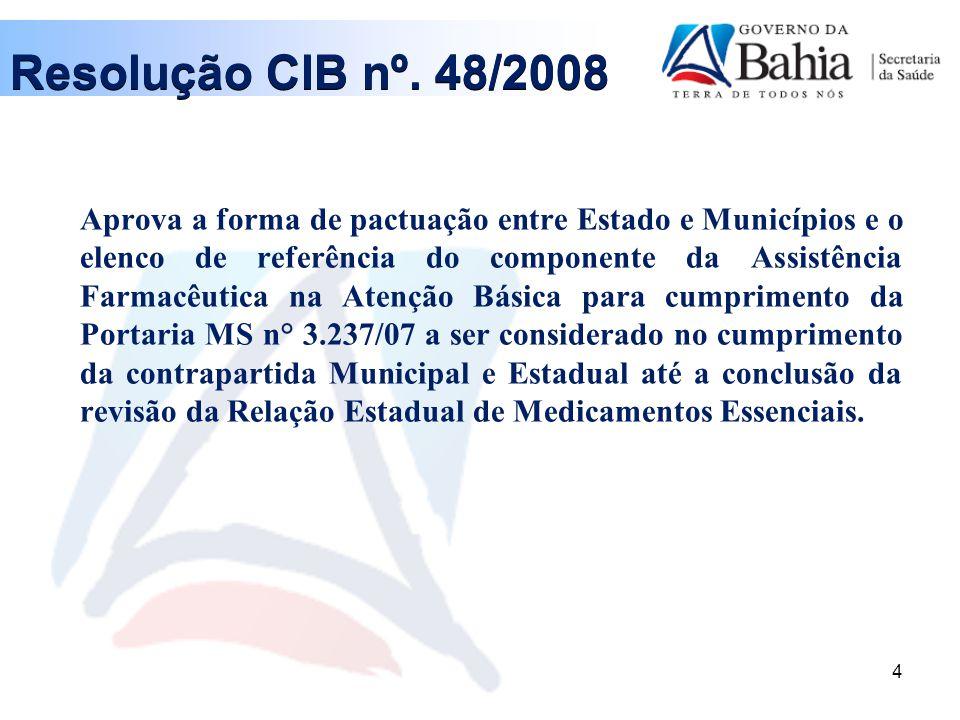 Resolução CIB nº. 48/2008