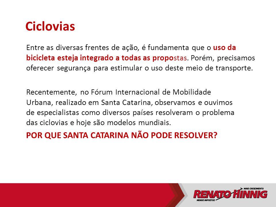 Ciclovias Por que Santa Catarina não pode resolver