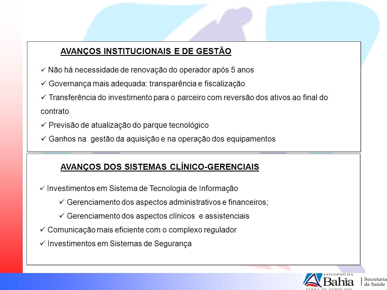 AVANÇOS INSTITUCIONAIS E DE GESTÃO