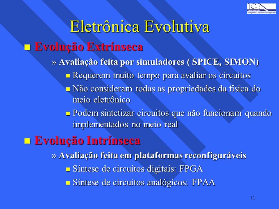 Eletrônica Evolutiva Evolução Extrínseca Evolução Intrínseca