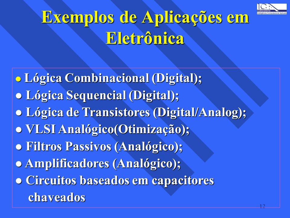 Exemplos de Aplicações em Eletrônica