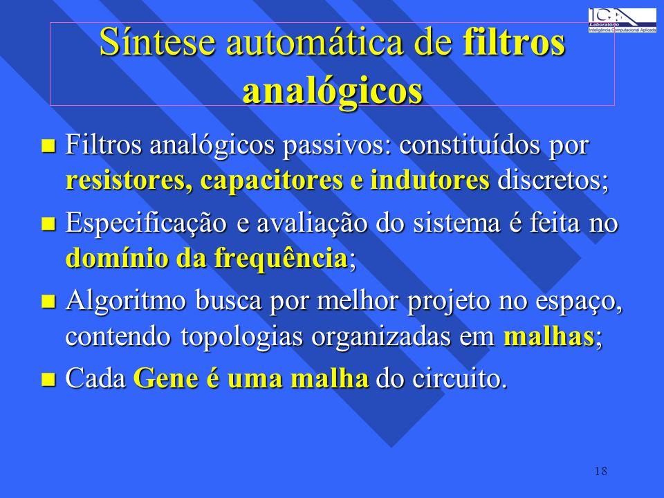 Síntese automática de filtros analógicos