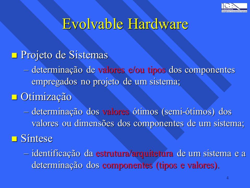 Evolvable Hardware Projeto de Sistemas Otimização Síntese