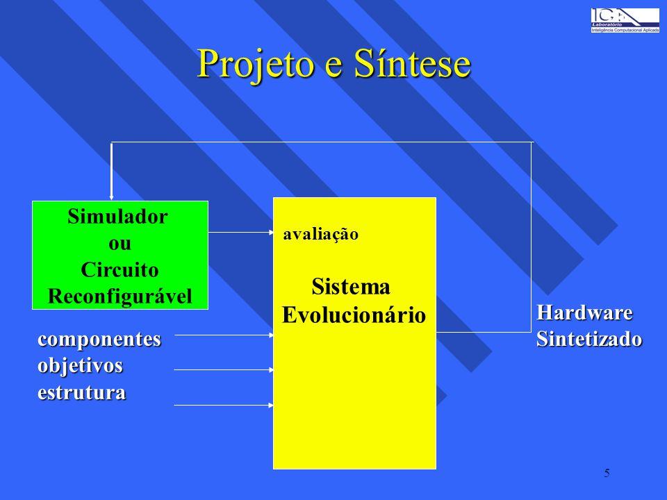 Projeto e Síntese Sistema Evolucionário Simulador ou Circuito