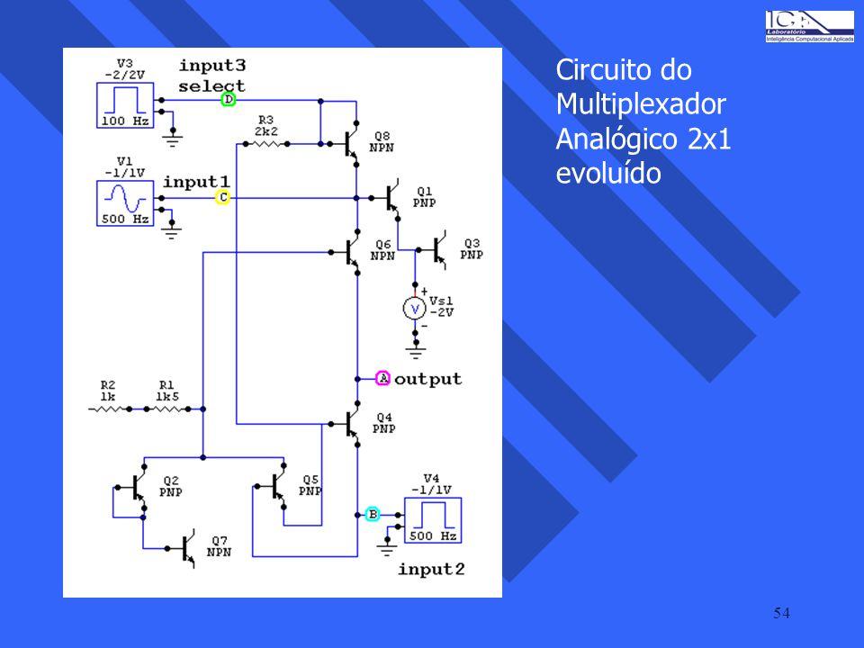 Circuito do Multiplexador Analógico 2x1 evoluído