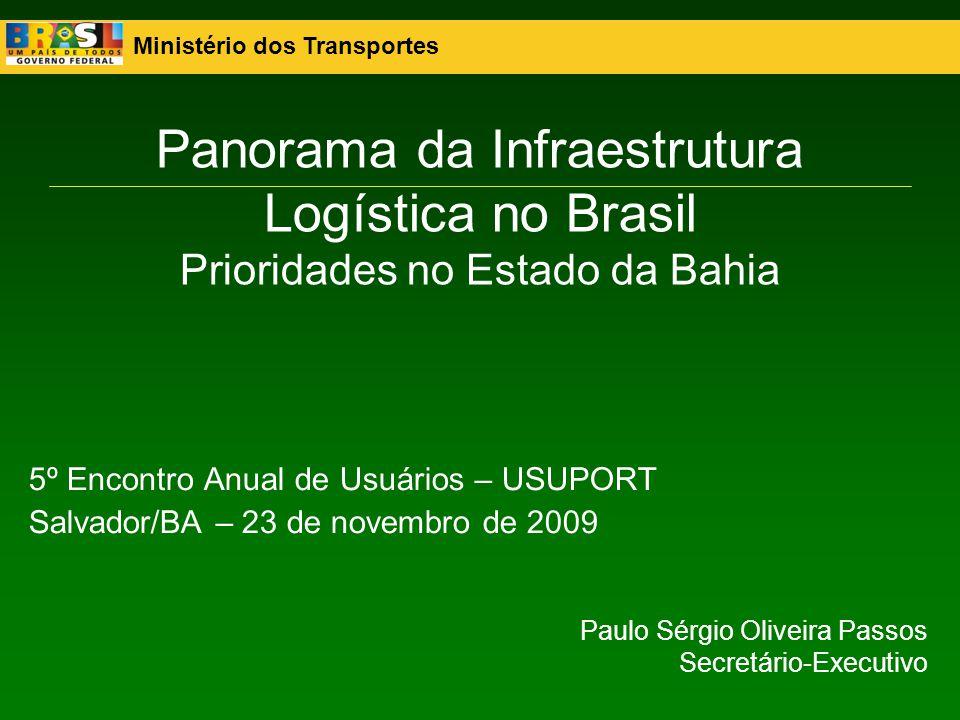 Panorama da Infraestrutura Logística no Brasil Prioridades no Estado da Bahia