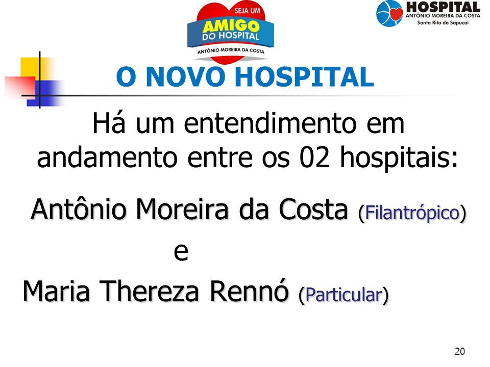 Há um entendimento em andamento entre os 02 hospitais: