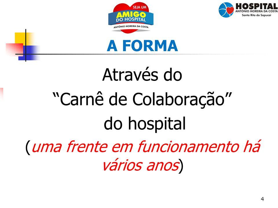 Carnê de Colaboração do hospital