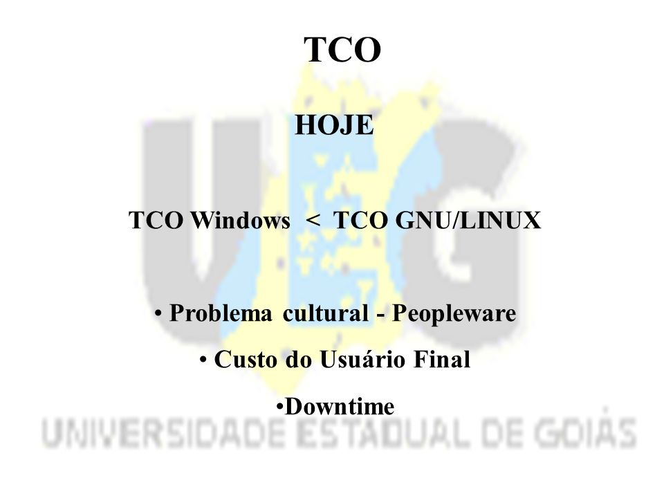 TCO Windows < TCO GNU/LINUX Problema cultural - Peopleware