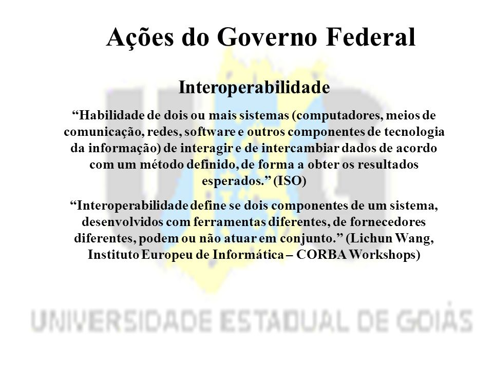 Ações do Governo Federal