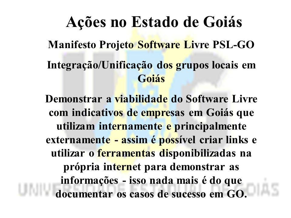 Ações no Estado de Goiás