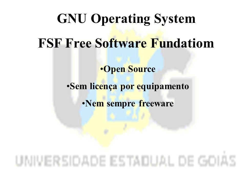 FSF Free Software Fundatiom Sem licença por equipamento