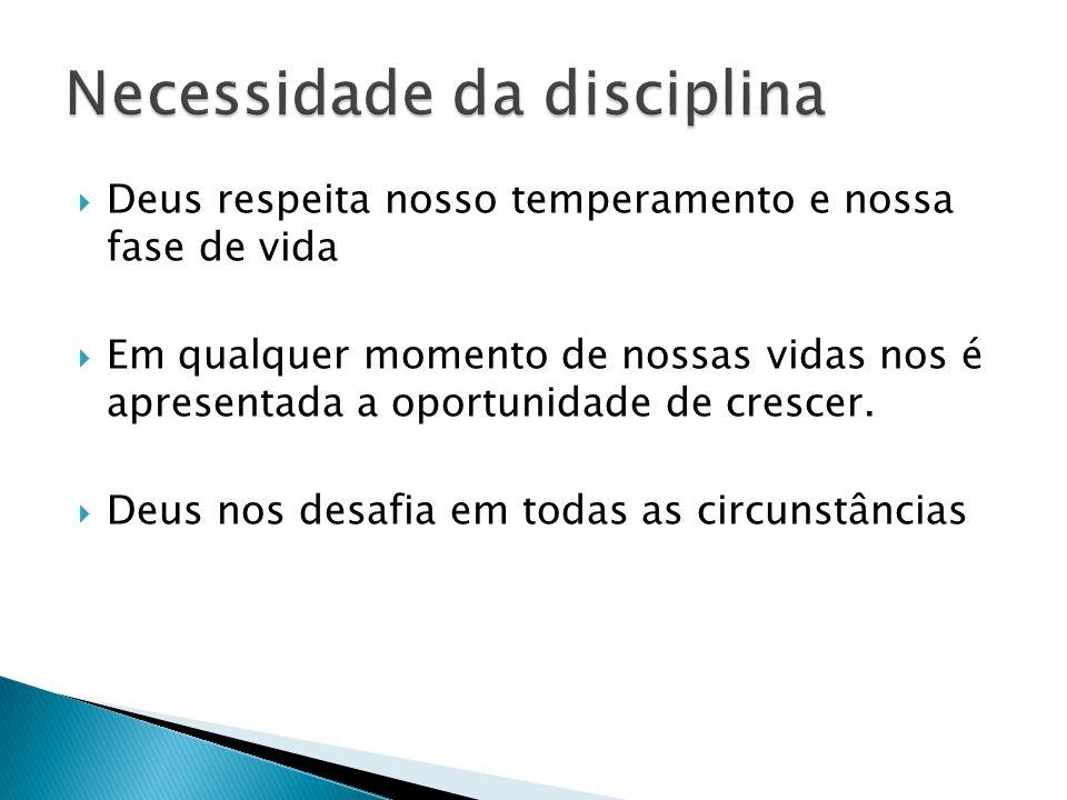 Necessidade da disciplina