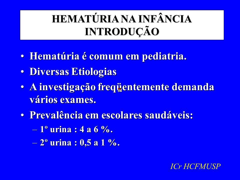 HEMATÚRIA NA INFÂNCIA INTRODUÇÃO