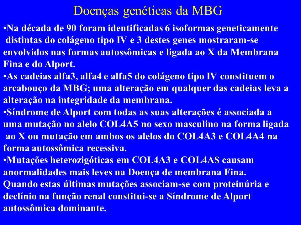 Doenças genéticas da MBG