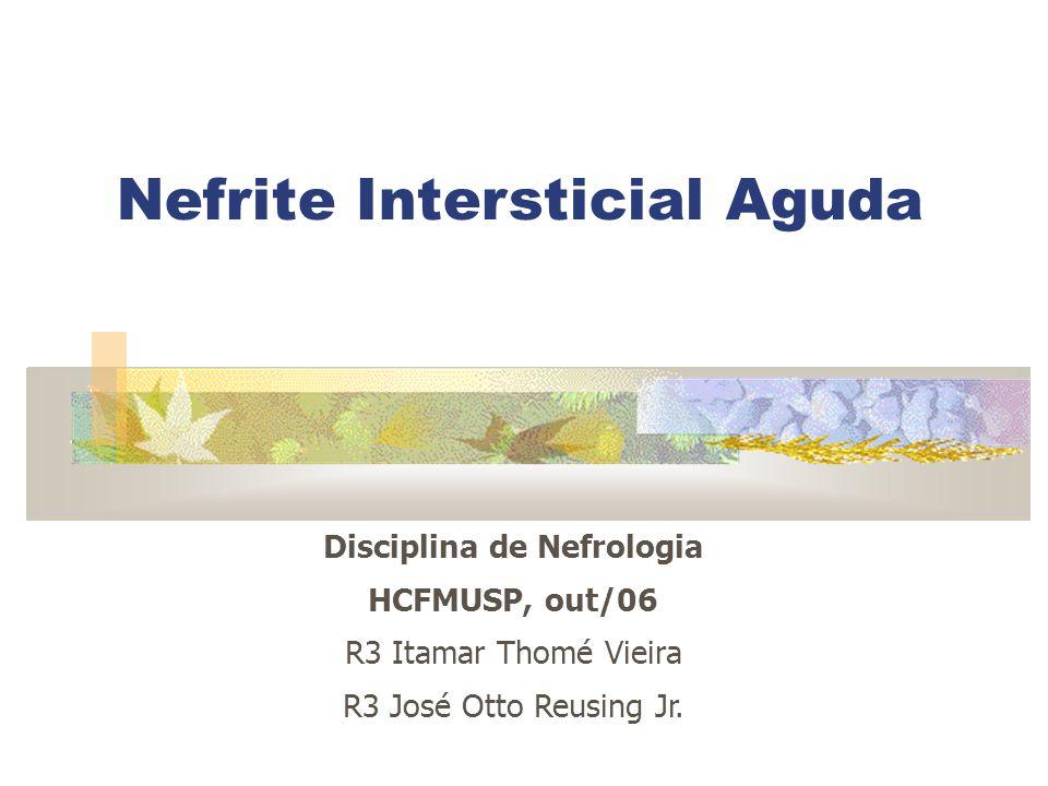 Nefrite Intersticial Aguda Disciplina de Nefrologia