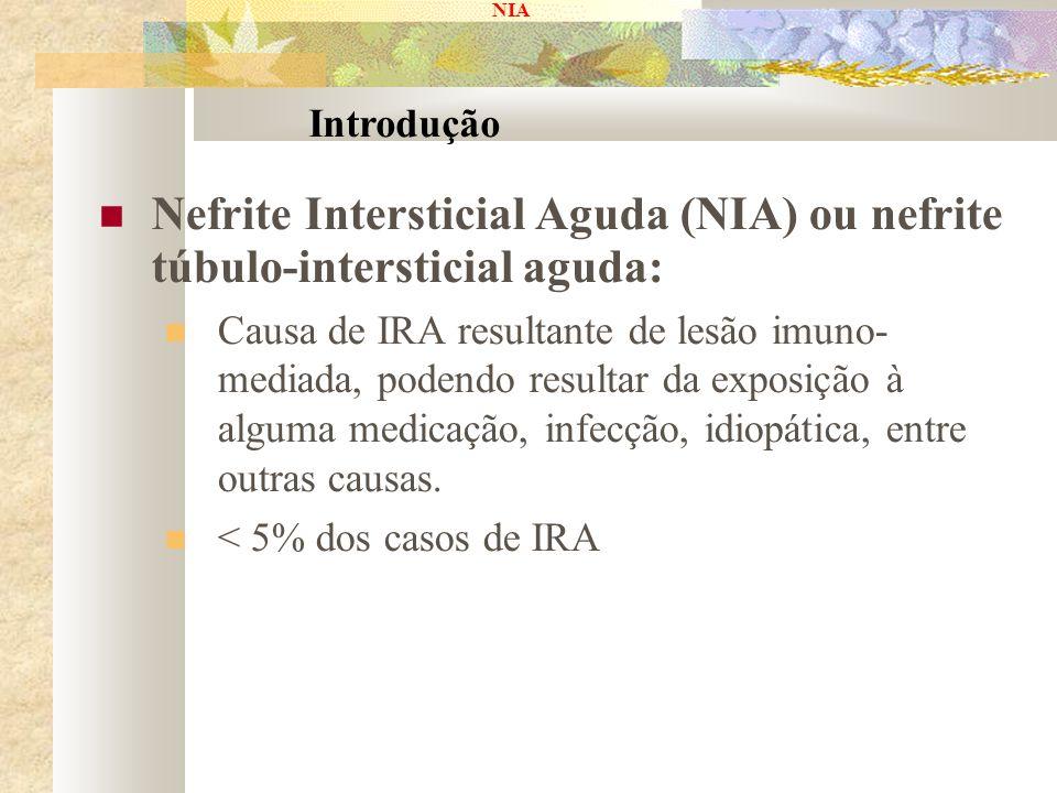 Nefrite Intersticial Aguda (NIA) ou nefrite túbulo-intersticial aguda: