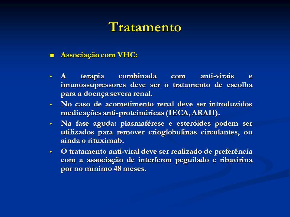 Tratamento Associação com VHC: