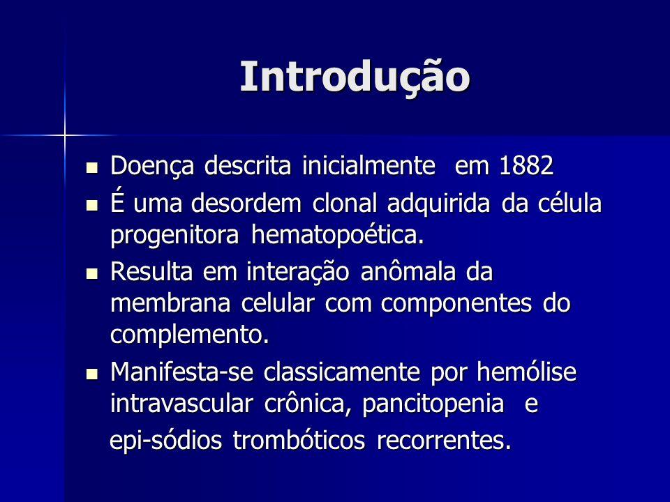 Introdução Doença descrita inicialmente em 1882