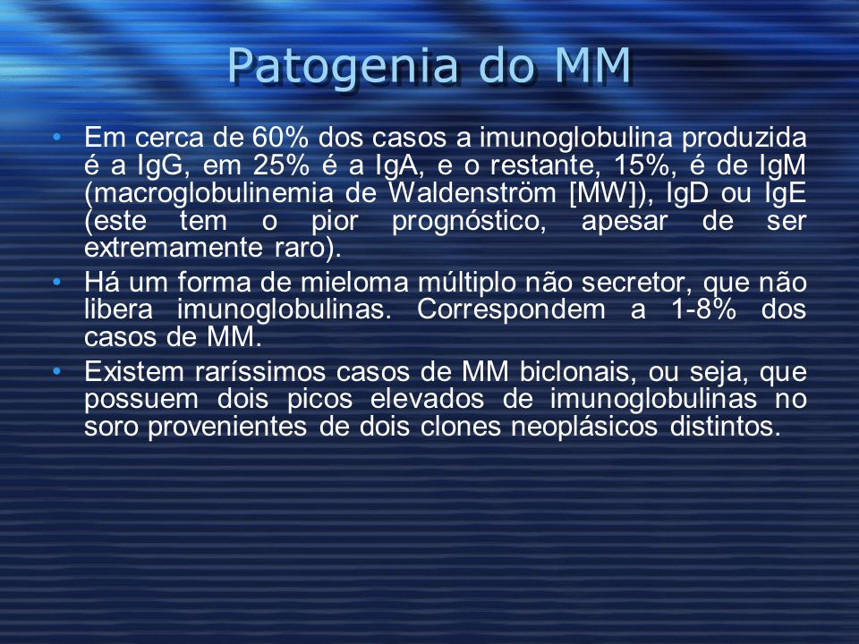 Patogenia do MM