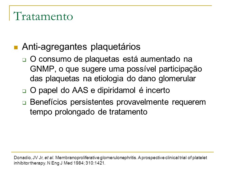 Tratamento Anti-agregantes plaquetários