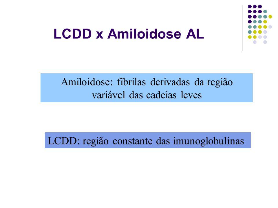 Amiloidose: fibrilas derivadas da região variável das cadeias leves