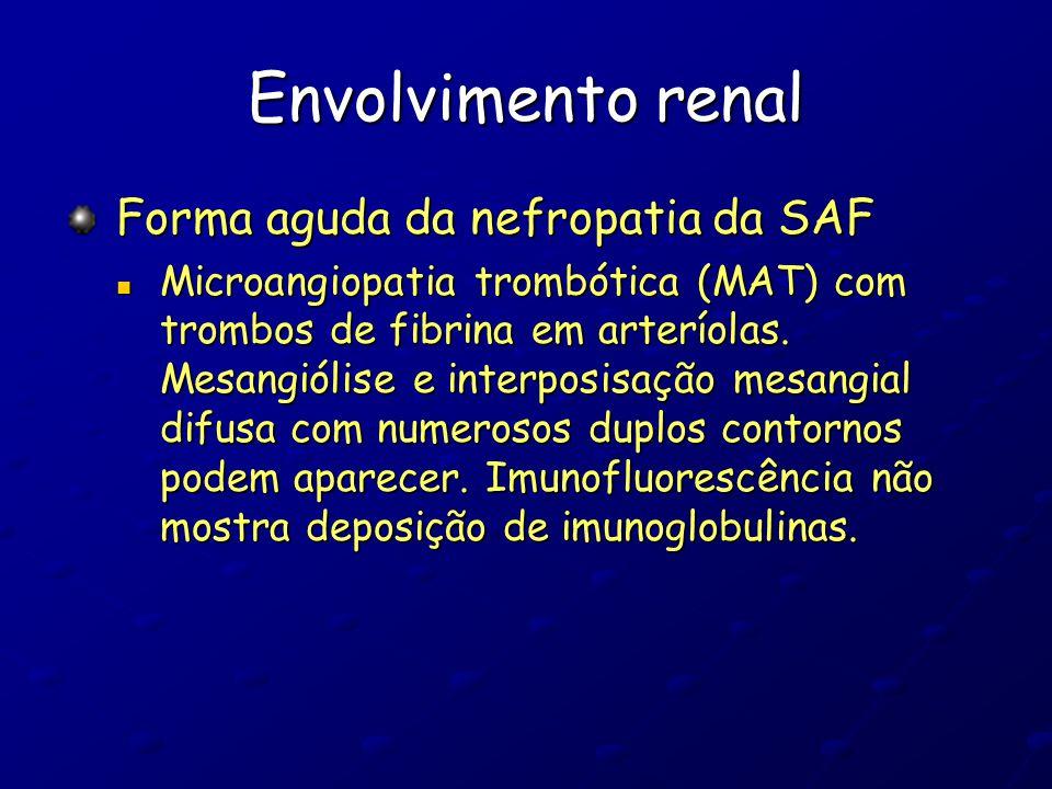 Envolvimento renal Forma aguda da nefropatia da SAF