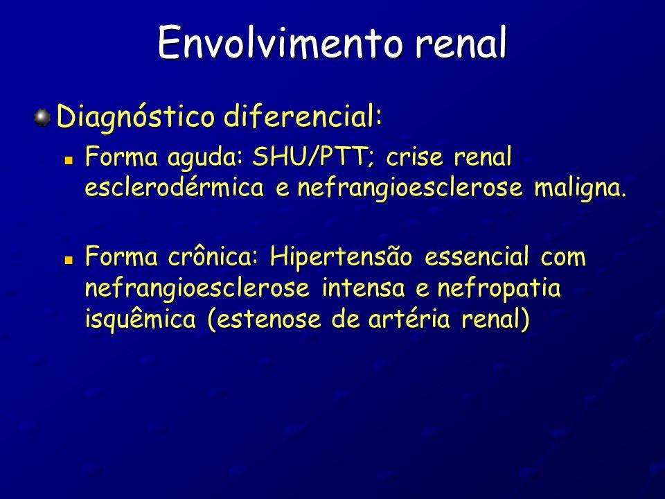 Envolvimento renal Diagnóstico diferencial: