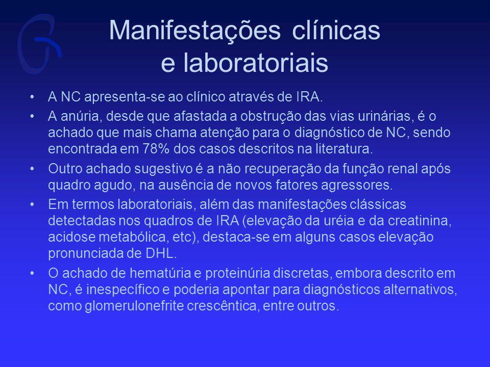 Manifestações clínicas e laboratoriais