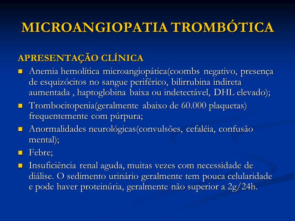 MICROANGIOPATIA TROMBÓTICA