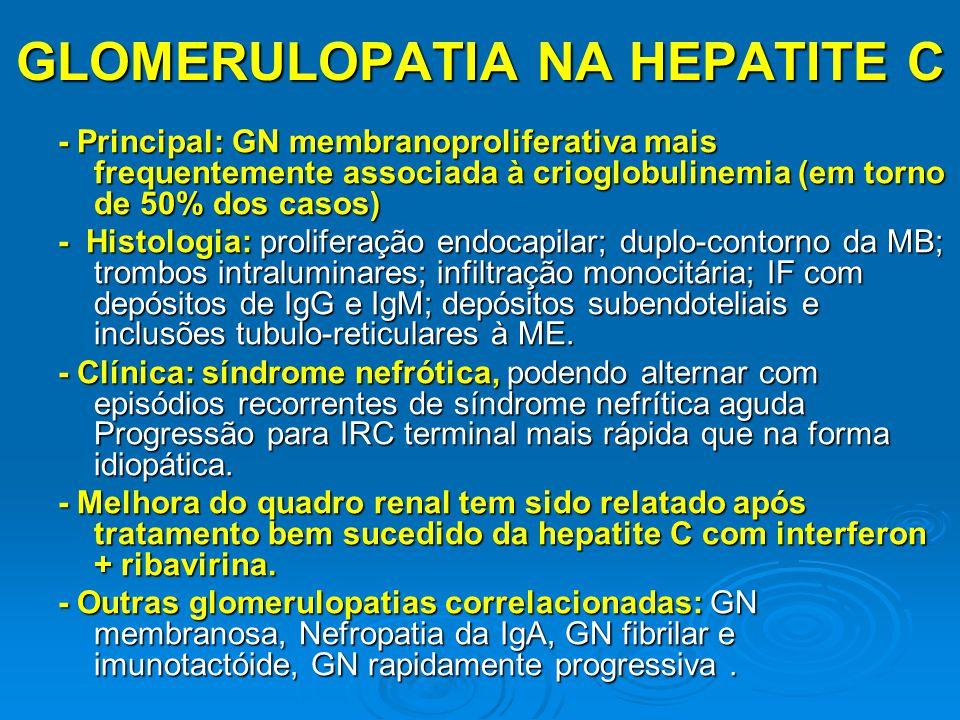 GLOMERULOPATIA NA HEPATITE C