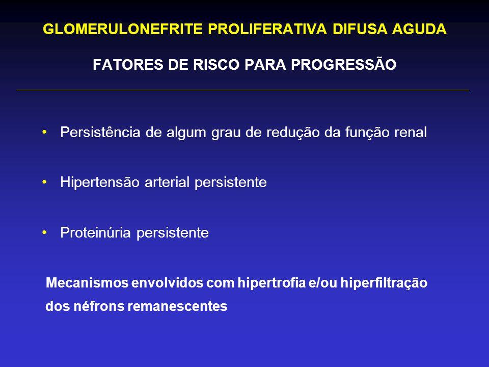 Persistência de algum grau de redução da função renal