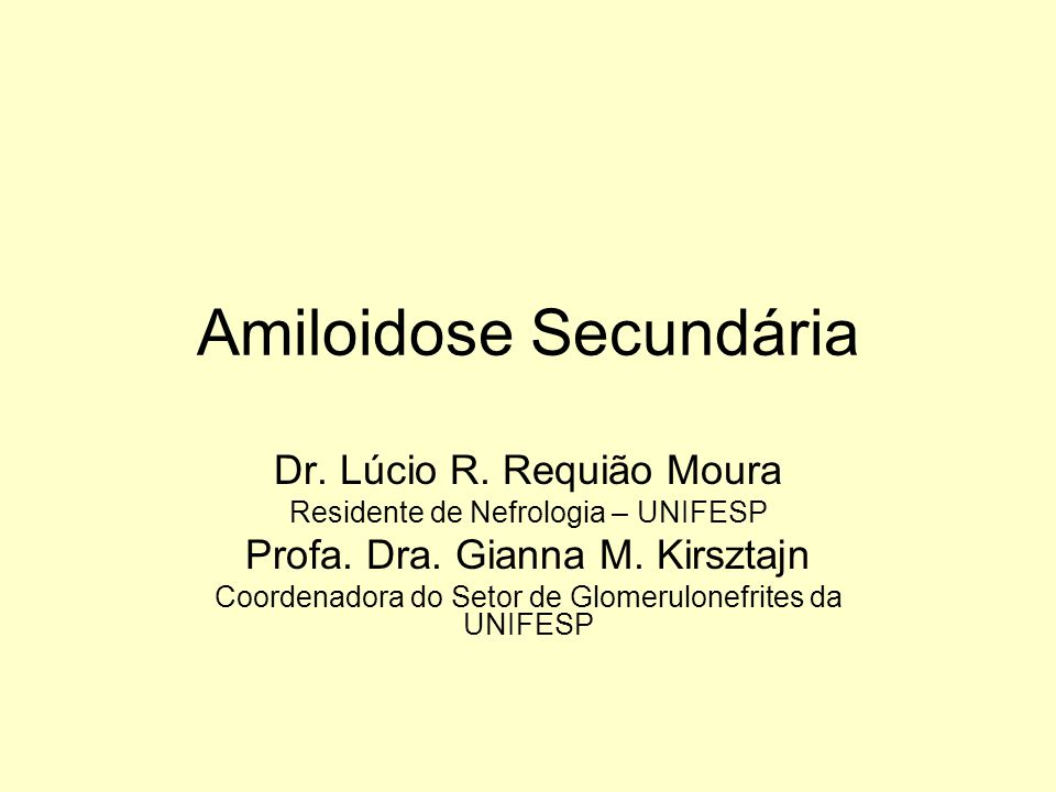 Amiloidose Secundária