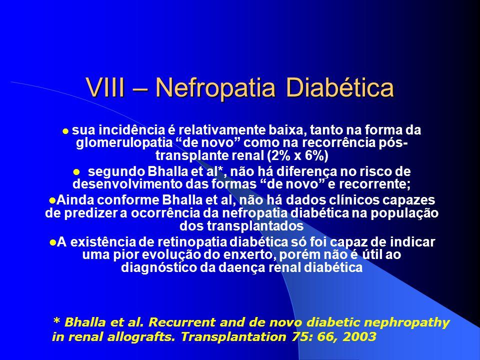 VIII – Nefropatia Diabética