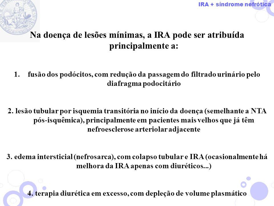 4. terapia diurética em excesso, com depleção de volume plasmático