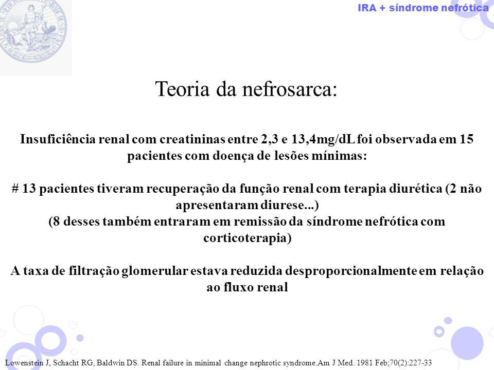 IRA + síndrome nefrótica