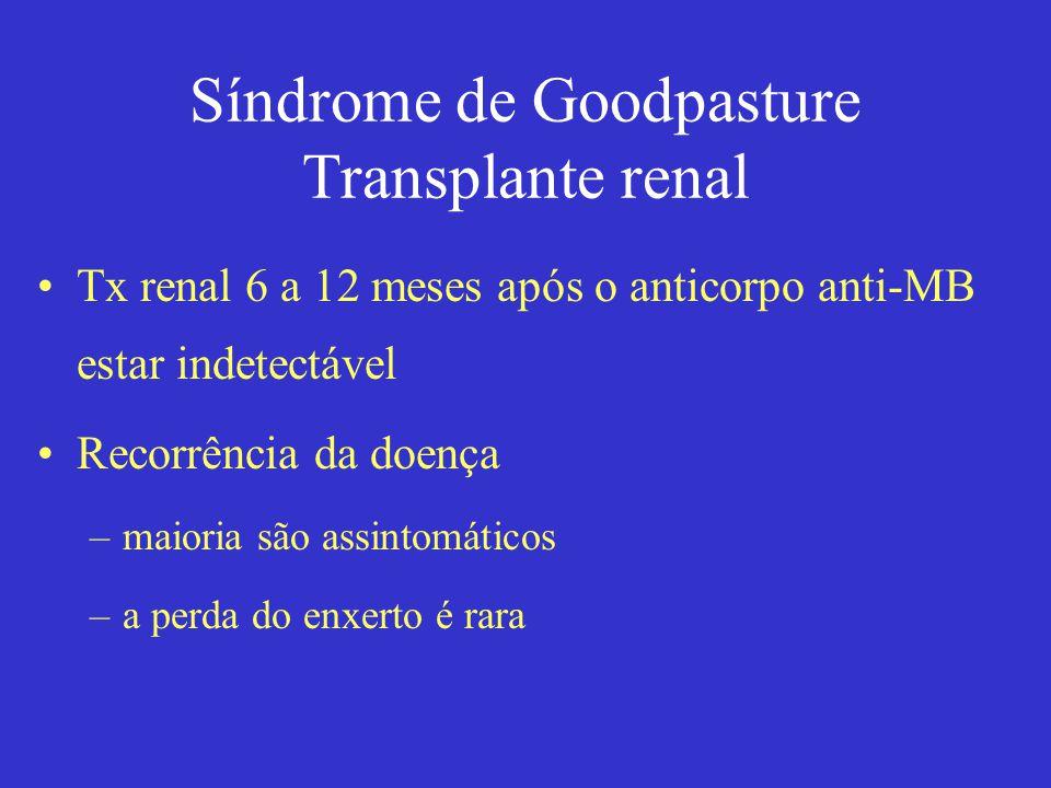 Síndrome de Goodpasture Transplante renal