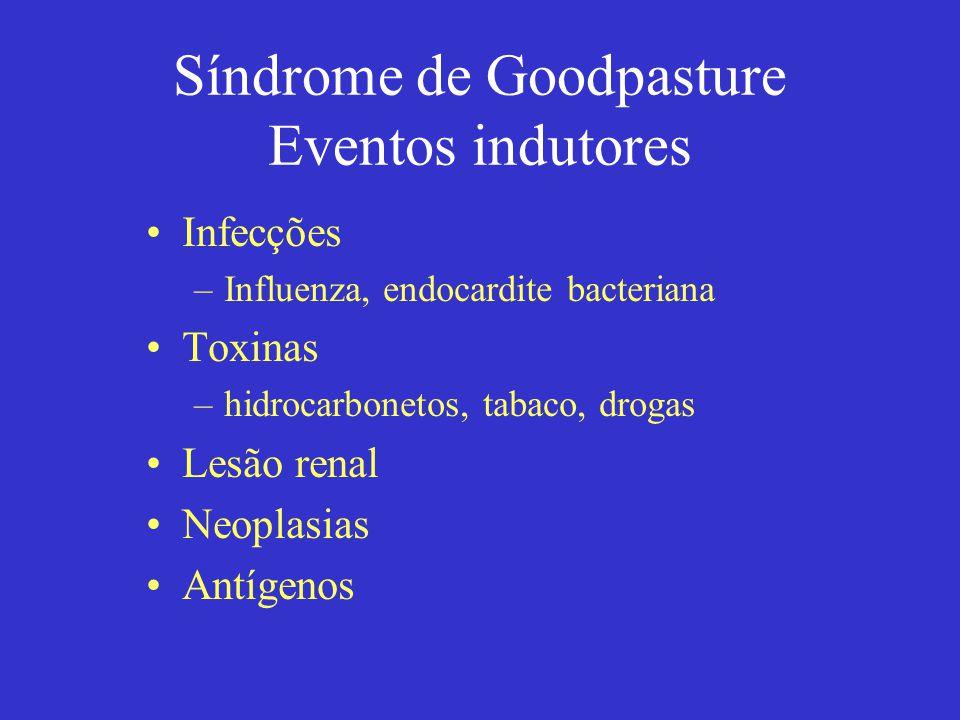 Síndrome de Goodpasture Eventos indutores