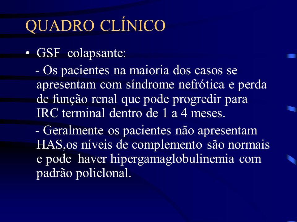 QUADRO CLÍNICO GSF colapsante:
