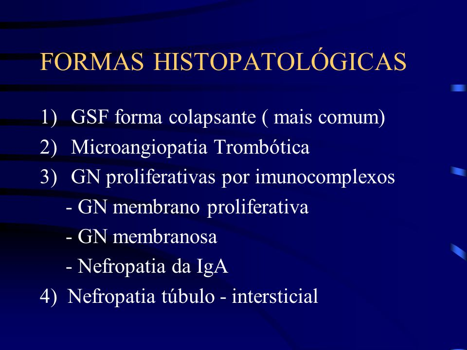 FORMAS HISTOPATOLÓGICAS