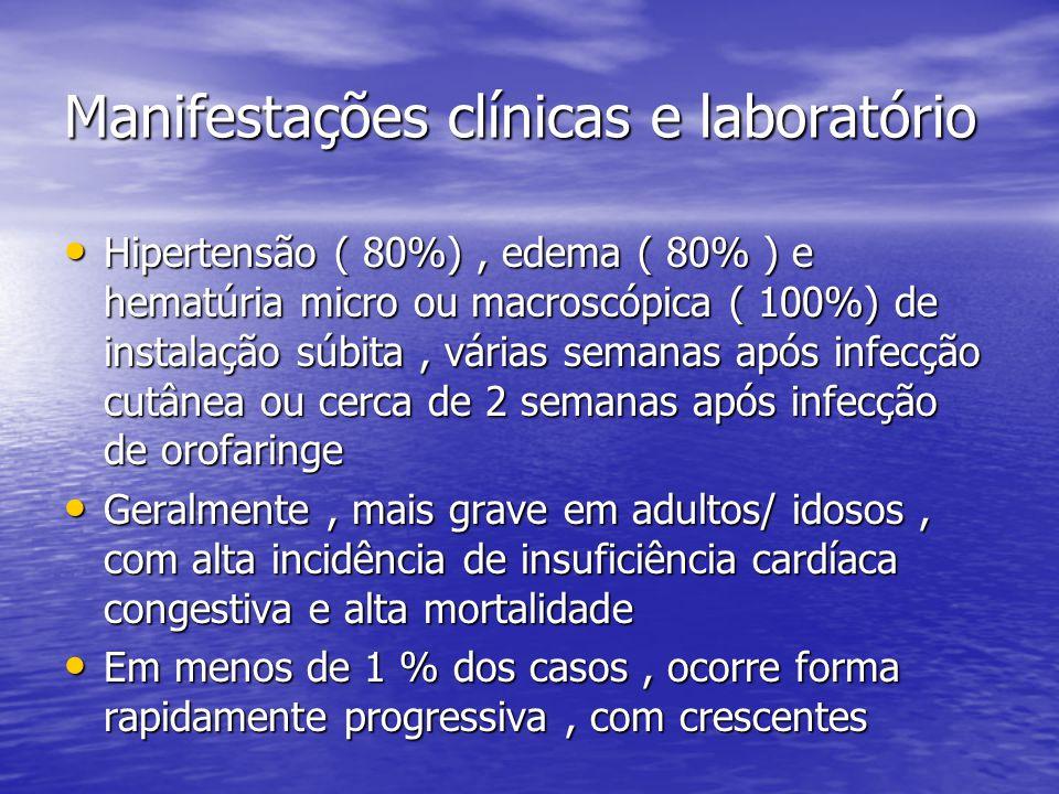 Manifestações clínicas e laboratório
